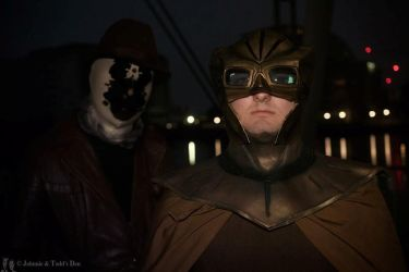 Nite owl and Rorschach MCM London by ramtopsman
