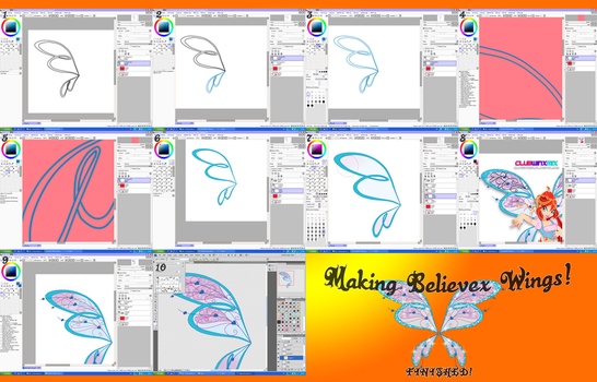 How To Draw : Winx Believex Wings Nick Style by Tuxedo1