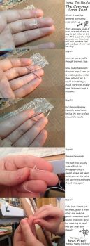 How to Undo the Common Loop Knot by pinkythepink