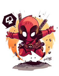 Chibi Deadpool! by DerekLaufman