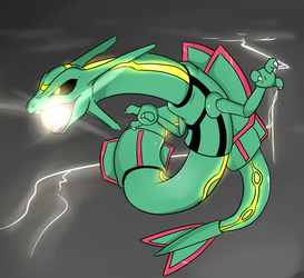 Rayquaza by Lustrous-Dreams