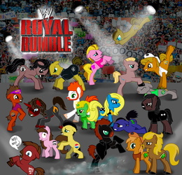 WWE - my little pony - Royal Rumble by FuriarossaAndMimma