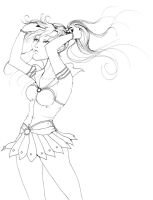 sailor jupiter lineart by NanakoHarrison