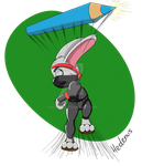 REQUEST - Ninja rabbit by Hedenus