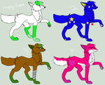 female wolf adoptables by thisistheonlyme