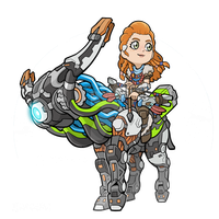 Aloy and Broadside by KevinRaganit