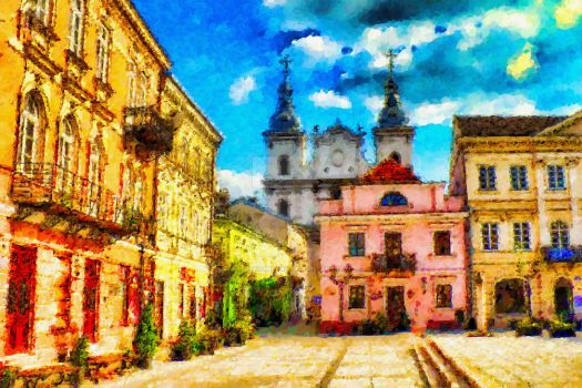 Colours of old town by gniewomirart