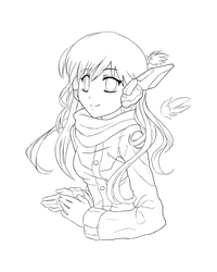 Digital Fairy - Winter Lineart by MLeth