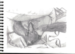 Sleeping dog and sleeping girl 1 by kinow