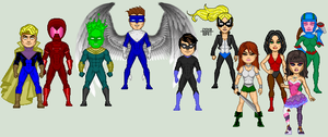 Superhero OCs by Caroline and Vitoria by EverydayBattman