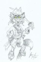 Red Riley The Pirate Fox by KosmoKOYOTE