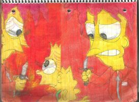 Sideshow Bob and Bart 1 by RozStaw57
