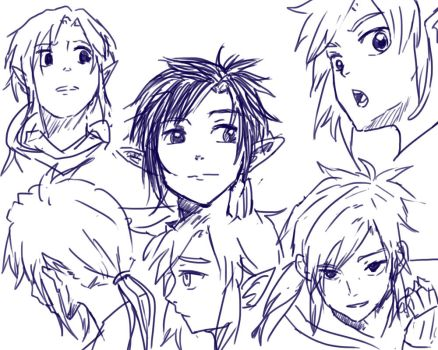 Link Ponytail sketches by ichi-iltea15