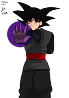 Goku Black ki blast by fighterxaos