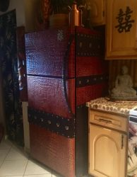 Asian Armored Alligator Skin Fridge with Suede by MauruCat