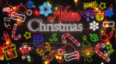 PNG - Neon Christmas by LetTheRoad