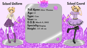 CDA Application: Alice Thomas by Luckyshortyboo