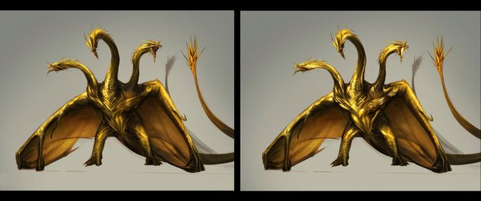 Ghidorah - v Chimera by Tapwing