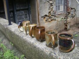 A line of new pottery by RuthLampi