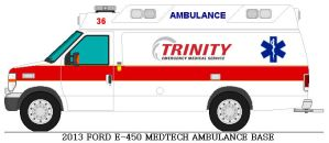 ford e 450 medtech ambulance Trinity EMS by AgentSmith66