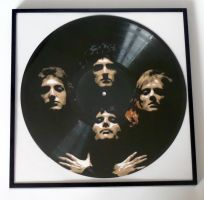 Queen painted on vinyl record by vantidus