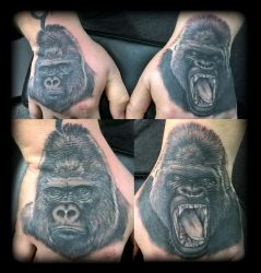 Gorillas by state-of-art-tattoo