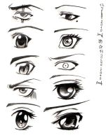 Manga and Anime Eyes by shanerose
