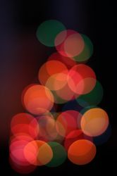 Christmas tree lights bokeh by kupenska