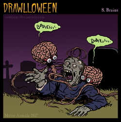 Drawlloween: Brains by Osmatar
