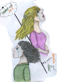 October and April- Loki and Amelia (OC) by Myvanway