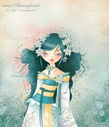 Geisha Edelweiss by Nailyce