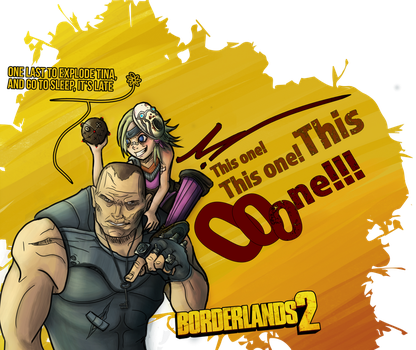 Fan'art Borderlands 2 : Brick and Tina by Fura-Falevan