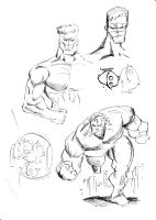 Liefeld inspired sketches by mcd91