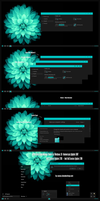 After Dark Cyan Minimal Theme Win10 Fall Creators by Cleodesktop