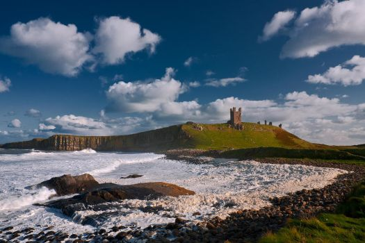Dunstanburgh Seascape by newcastlemale