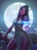 Tyrande Whisperwind by TheMaestroNoob