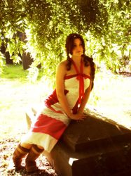 Aerith- Sitting in the Shade by izzycool91