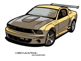 Ford Mustang Vector Art 2 by ahmad0410