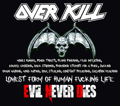 Custom Album Cover: Overkill - E.vil N.ever D.ies by rubenick