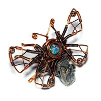 Steampunk butterfly pin by CatherinetteRings