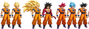 Goku Transformations (Updated) by Spartan-A21