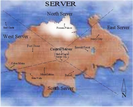 Map of Server by RMH