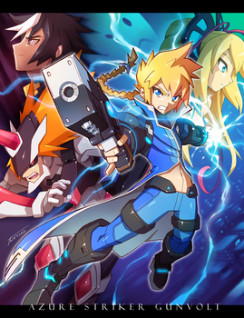 Azure Striker Gunvolt by Tomycase