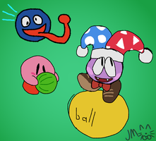 kirby doodles by RoyalBiv