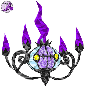 Chandelure vector by PurpleSallyJay