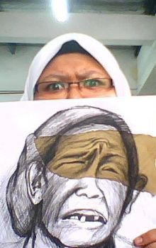 Me with my Drawing by MASTURAHmust0305