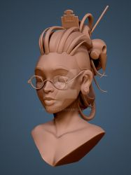 Female Bust Sculpt by ZymTrance