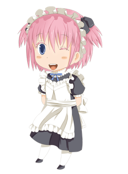 Mascot in maid uniform (finished) by small-light