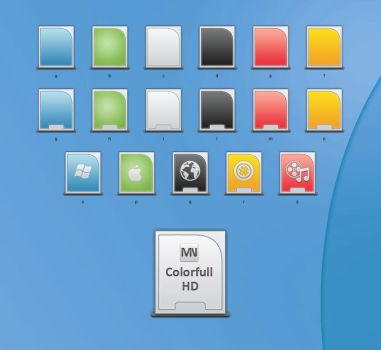 Colorfull Hard Disk by blymar