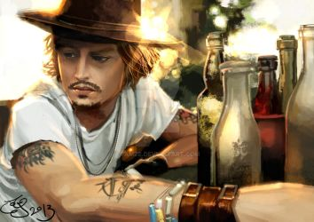 Johnny Depp Portrait by 7amze